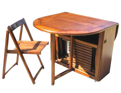 Folding Table Chairs Stored Inside Images Home Design